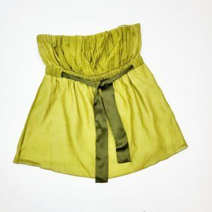 THE LIMITED Silk Cotton Chartreuse Green Top EUC